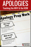 How to say sorry. Ideas for how school counselors and teachers can help kids understand the why and how of apologizing. Individual and group activities that are perfect for school counselors or classroom teachers.