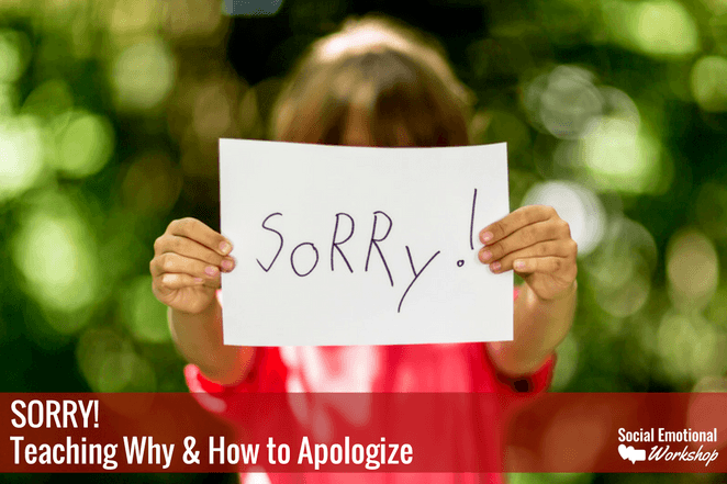 How to say sorry blog post