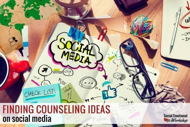 finding counseling ideas on social media