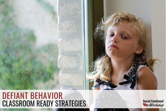 Strategies for defiant behavior. Defiant students can be challenging in a classroom. Preparing for defiant behavior, developing relationships with hard to reach students, and having a set of strategies to handle noncompliant behavior is key.