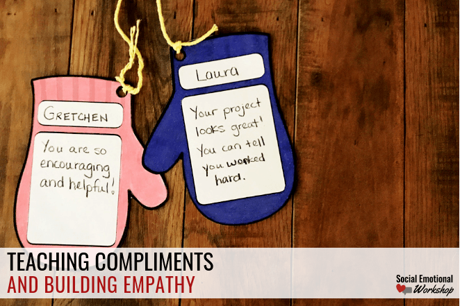 Teaching students to give and accept compliments.