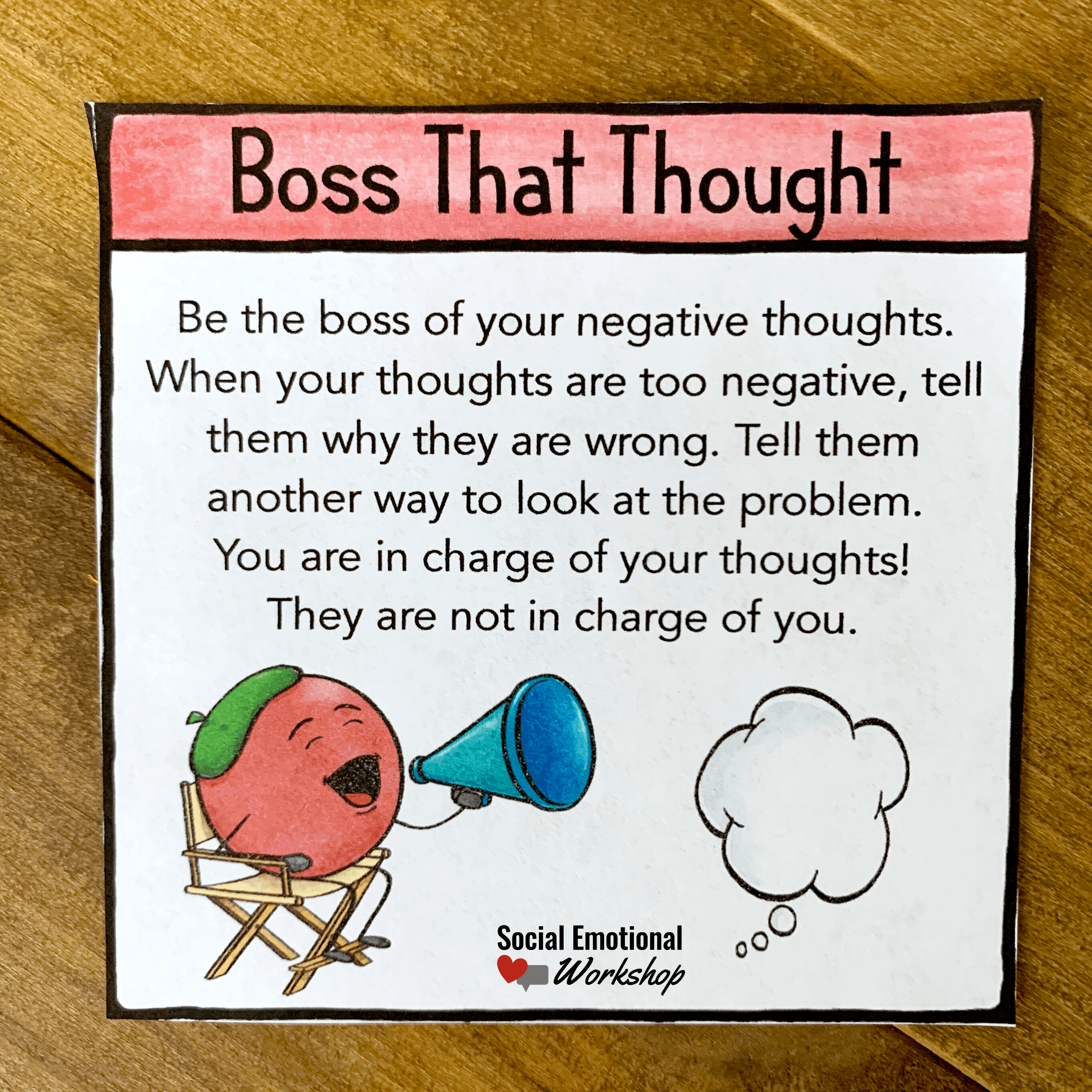 Positive Thinking Strategy: Boss the Thought