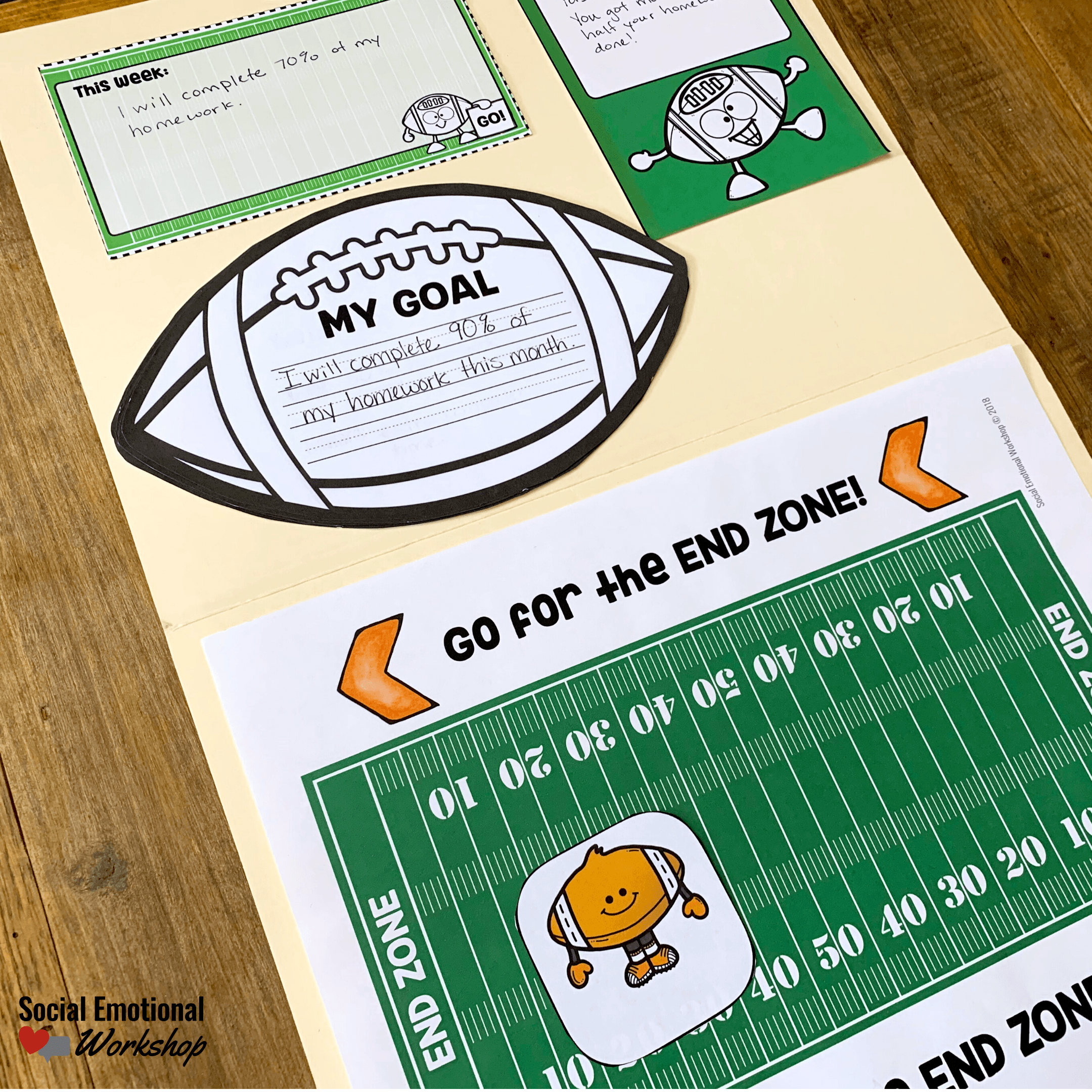 Goal Setting Resource Football Theme