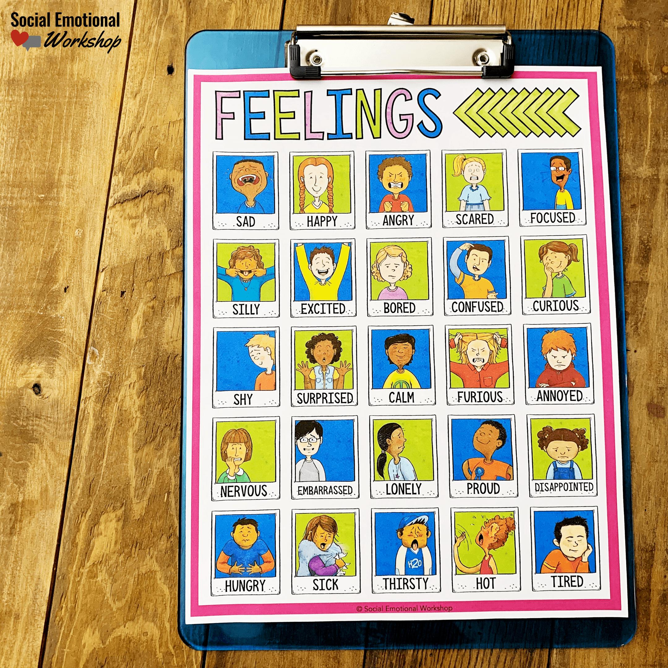 Feelings check-in chart
