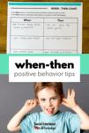 Behavior Strategies: When Then Statement